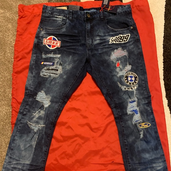 smoke rise Other - Smoke rise jeans ripped patched